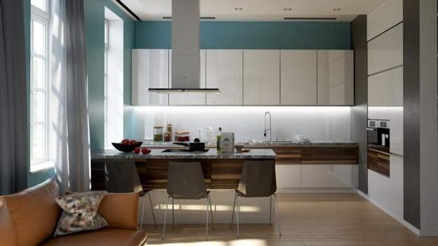 Дизайн проект – кухня гостиная 20 кв. м. 3