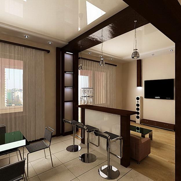 Маленькая гостиная кухня в хрущевке – эффективный дизайн 3