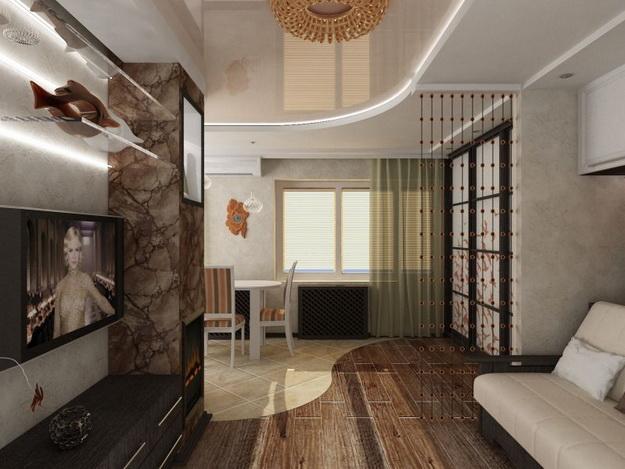 Маленькая гостиная кухня в хрущевке – эффективный дизайн 5