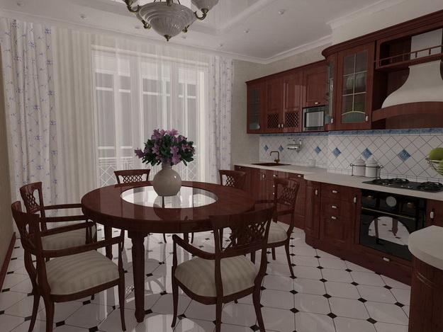 Современная кухня – дизайн в классическом стиле 2