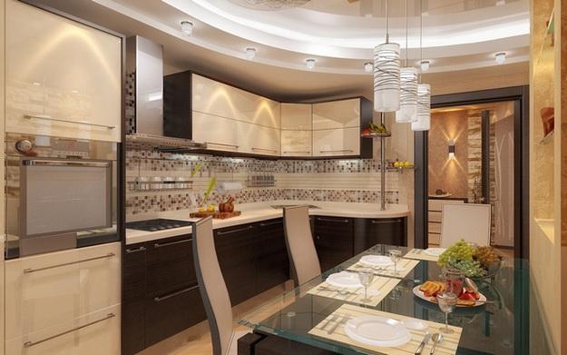 Интерьер кухни совмещенной с гостиной - практичная красота 7