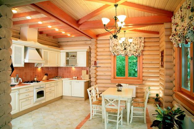 Обустраиваем кухню в деревянном доме - дизайн и интерьер 2