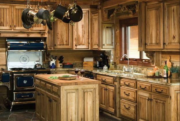 Обустраиваем кухню в деревянном доме - дизайн и интерьер 4