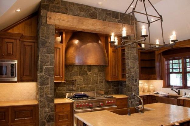 Обустраиваем кухню в деревянном доме - дизайн и интерьер 5
