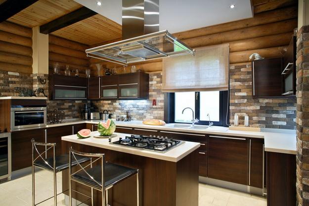 Обустраиваем кухню в деревянном доме - дизайн и интерьер 6