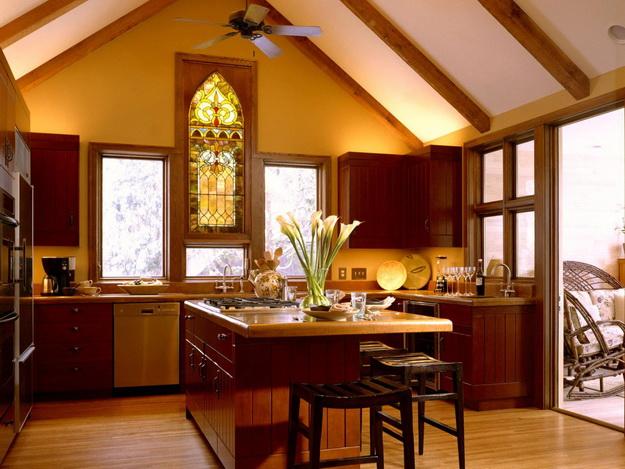 Обустраиваем кухню в деревянном доме - дизайн и интерьер 8