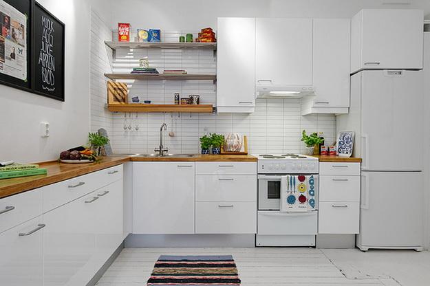 Скандинавский дизайн – кухни, совмещенные с гостиной 2