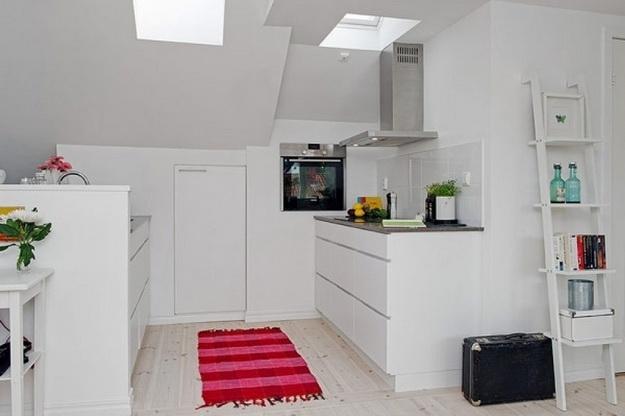 Скандинавский дизайн – кухни, совмещенные с гостиной 8
