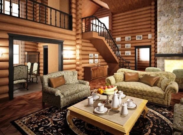 Дизайн деревянного дома – фотогалерея интерьеров 1