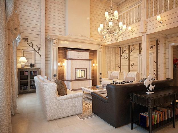 Дизайн деревянного дома – фотогалерея интерьеров 5