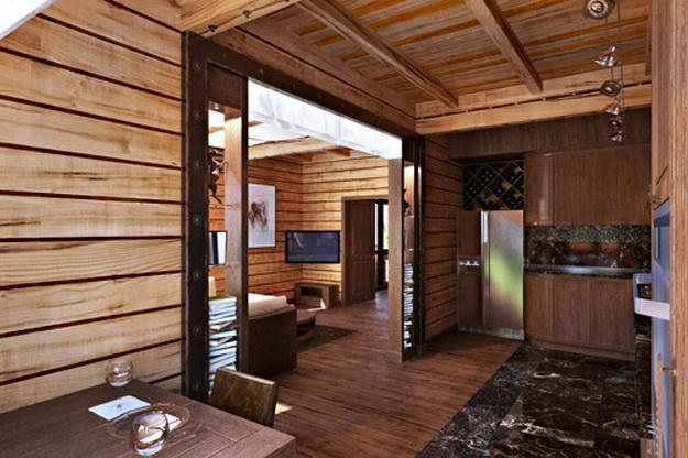 Дизайн деревянного дома – фотогалерея интерьеров 6