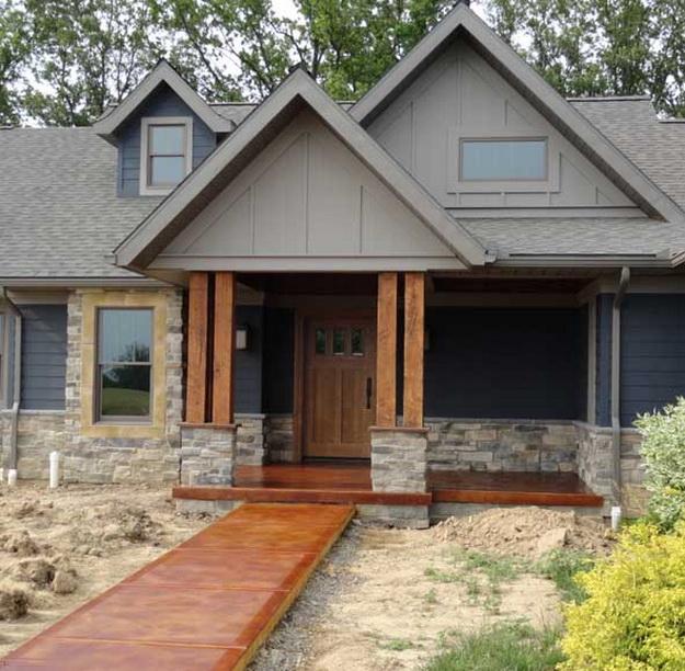 Крыльцо деревянного дома - фотогалерея разных вариантов 6