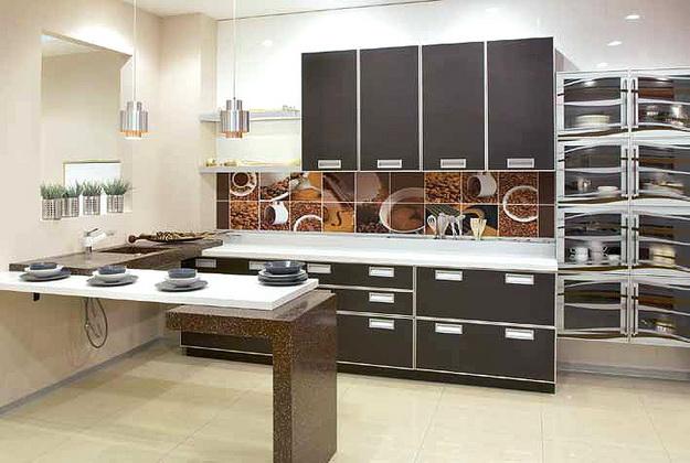 Кухонный фартук из ПВХ панелей - планируем дизайн современной кухни 7