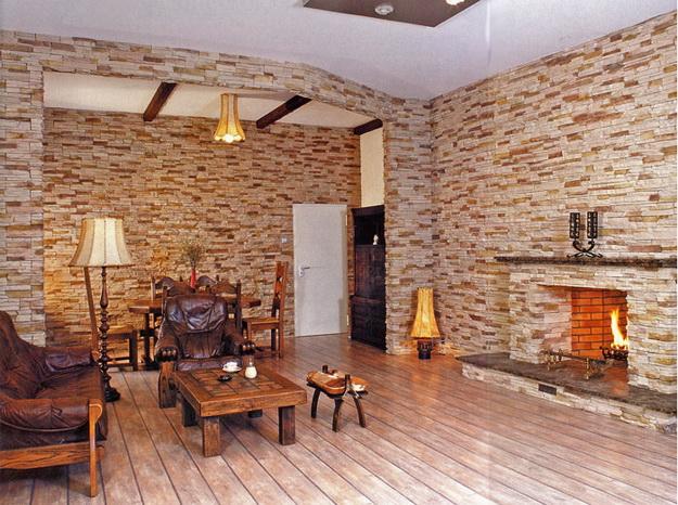 Интерьерная отделка стен под кирпичную кладку - варианты дизайна 2