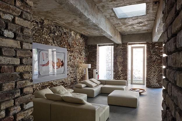 Интерьерная отделка стен под кирпичную кладку - варианты дизайна 3