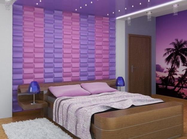 Оригинальные мягкие стеновые панели для спальни - варианты и дизайн 8