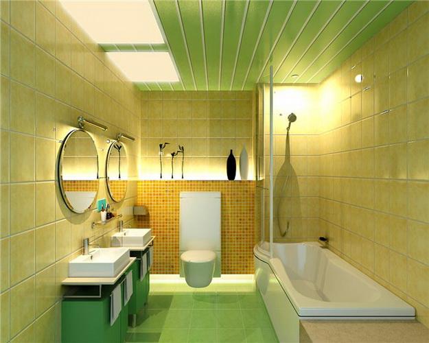 Стеновые панели ПВХ под плитку в дизайне современного санузла 7