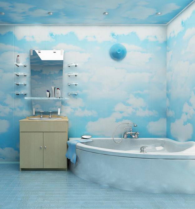 Пошаговый монтаж ПВХ панелей в ванной 1