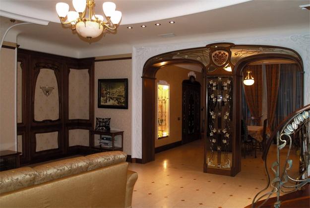 Стеновые панели из дерева в интерьере частного дома - варианты и дизайн 1