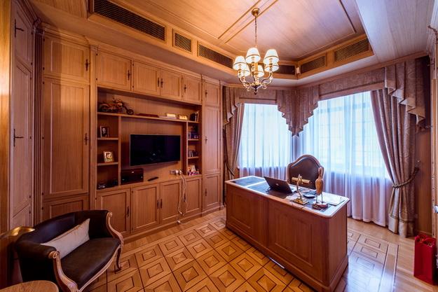 Стеновые панели из дерева в интерьере частного дома - варианты и дизайн 4