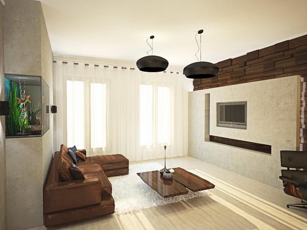 Стеновые панели из дерева в интерьере частного дома - варианты и дизайн 5