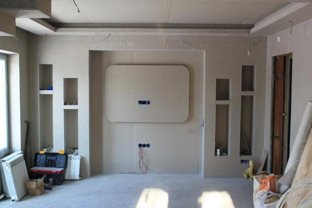 Правильная отделка стен гипсокартонном без каркаса и профиля 6