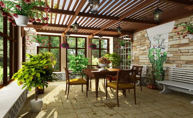 Прекрасный зимний сад в частном доме – фото и примеры 5