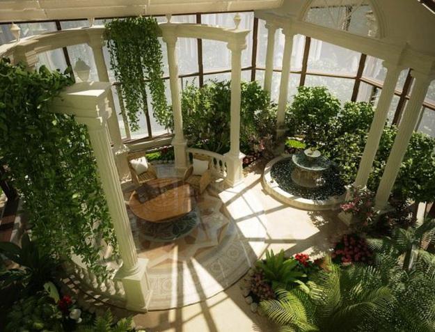 Прекрасный зимний сад в частном доме – фото и примеры 8